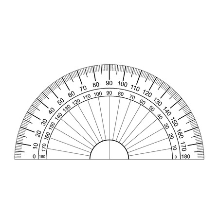 protractor vector Illustration