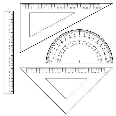 ruler: Protractor Ruler set Vector