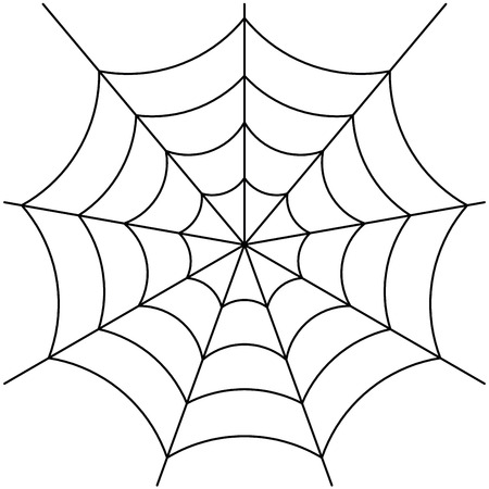 spider web: spider web isolated on white vector