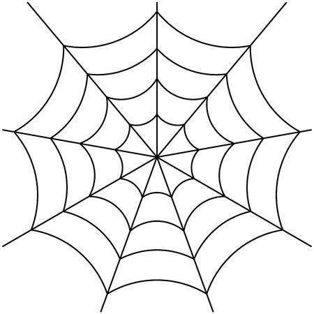 spinnenweb geïsoleerd op wit vector