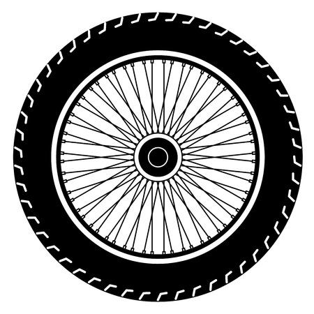 motorcycle wheel vector Vectores