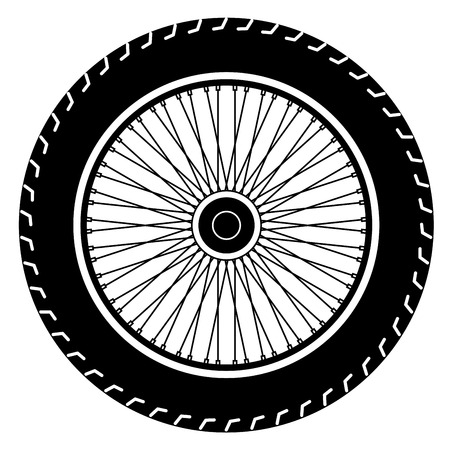 motorcycle wheel vector Illustration