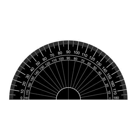 分度器シルエット ベクトル  イラスト・ベクター素材