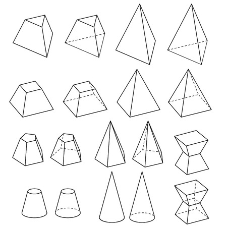 solid  geometry vector 版權商用圖片 - 41972873