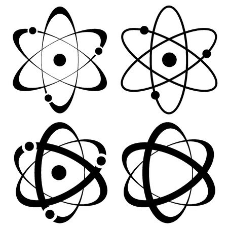 atom symbol set vector Illustration