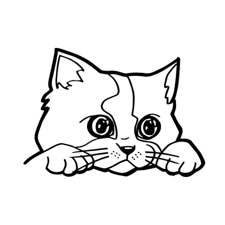 Vector illustration of Cat cartoon Illustration