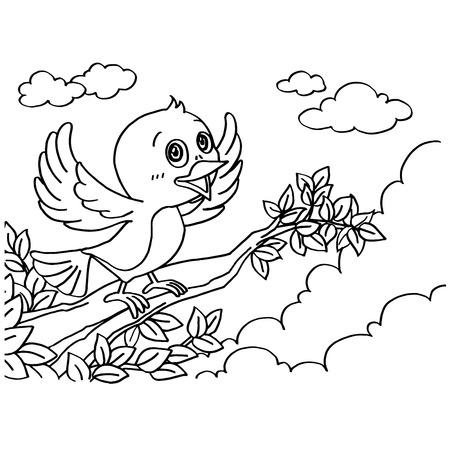 dibujos para pintar: P�jaro Coloring Pages vectorial Vectores