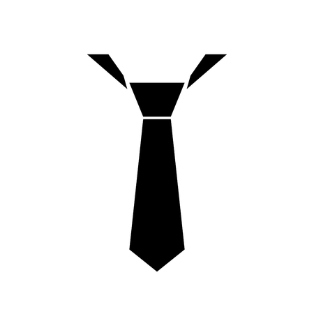 black suit: tie symbol vector