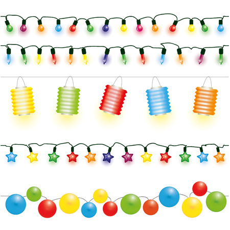 Christmas and party lights vector