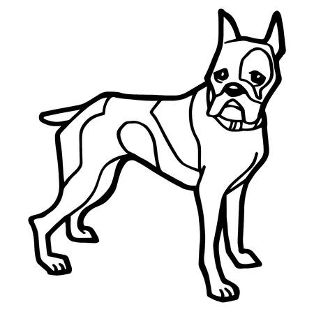 mongrel: Cartoon Illustration of Funny Dog for Coloring Book Illustration