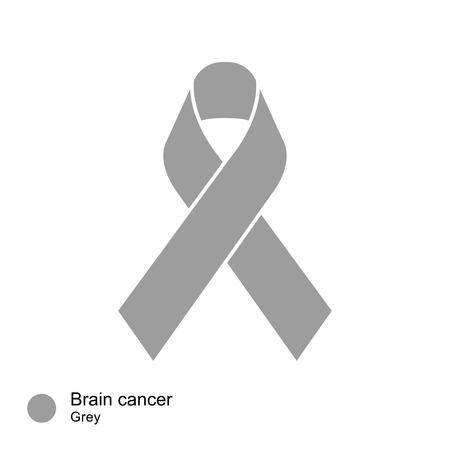 brain cancer: brain cancer ribbon vector Illustration