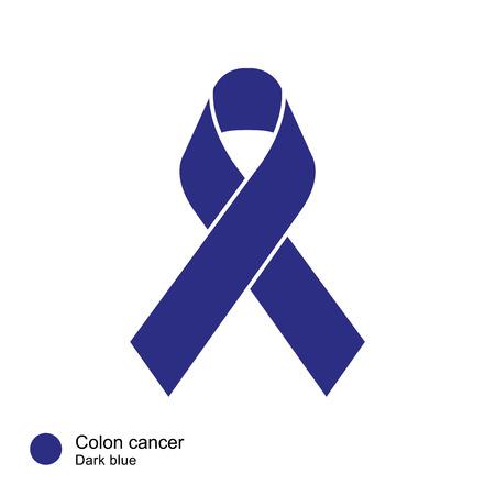 colon cancer: colon cancer ribbon vector