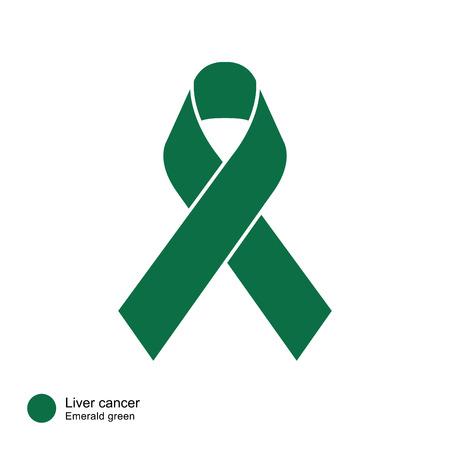 liver cancer: Liver Cancer ribbon vector