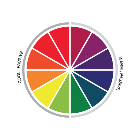 color theory: Color Theory Stock Vector Illustration
