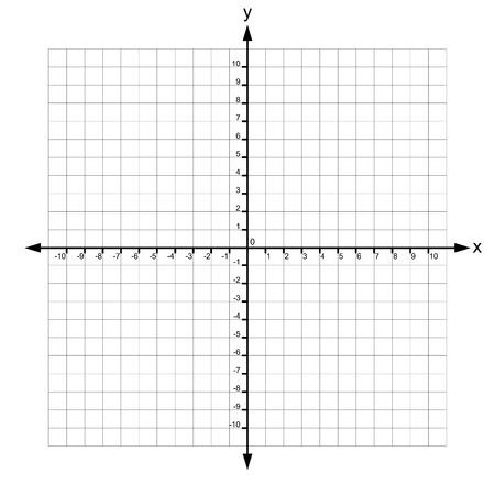 Sistema de coordenadas cartesianas del vector Ilustración de vector