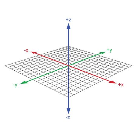 3 d の座標軸ベクトル  イラスト・ベクター素材