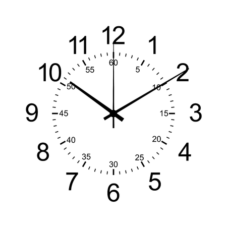 orologio da parete isolare su bianco
