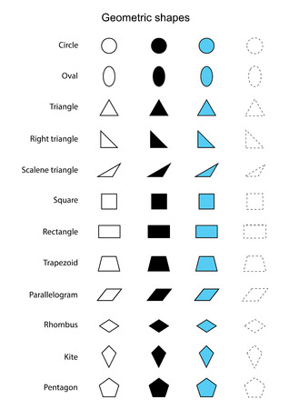 abstract shapes: geometric shapes