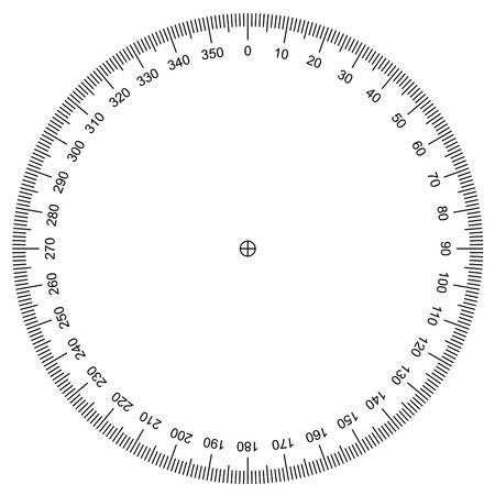 Protractor - Actual Size Graduation