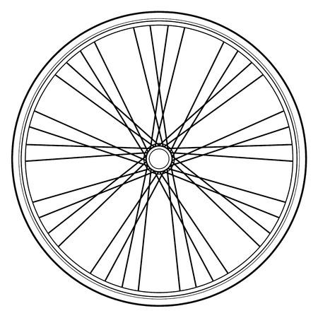 흰 배경에 고립 된 자전거 바퀴