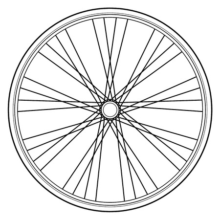 Roue de vélo isolé sur fond blanc Banque d'images - 61670821