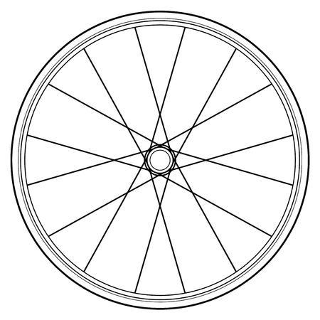 roue de vélo isolé sur blanc