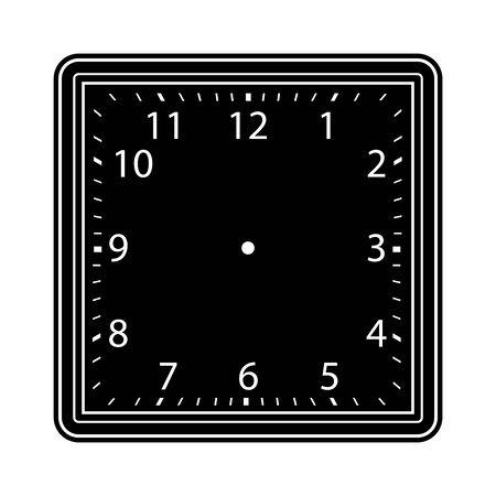 Reloj de la cara en blanco sobre fondo blanco