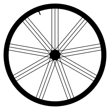 spoke: Bike wheel - vector illustration on white background