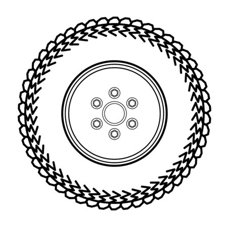 alloy wheel: Tires and wheels Vector Illustration