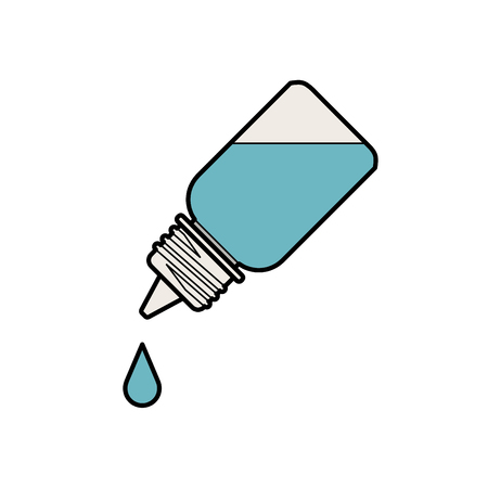 prescription bottles: Eye Drop Bottle Isolate On White Background