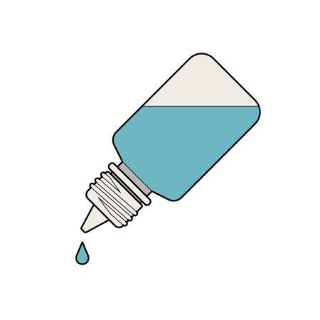 Eye Drop Bottle Isolate On White Background