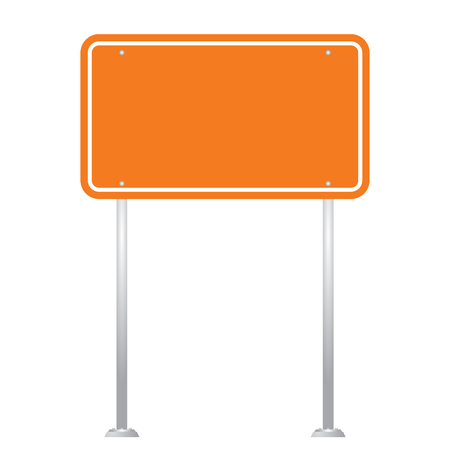 isolate: Blank Road Sign Board isolated on white background vector