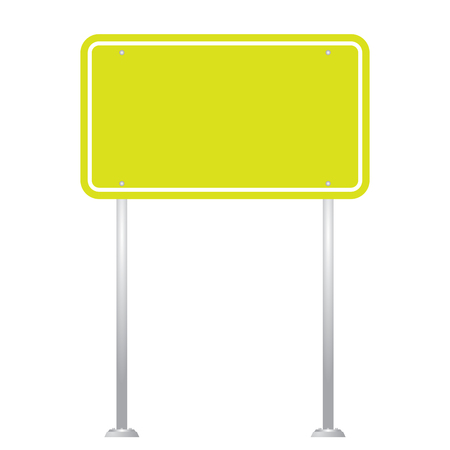 guidepost: Blank Road Sign Board isolated on white background vector