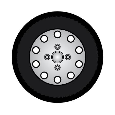tires and wheels Vector Illustration Illustration
