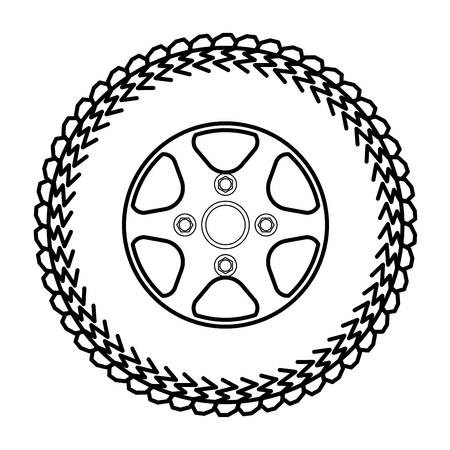 tires and wheels Vector Illustration Illustration