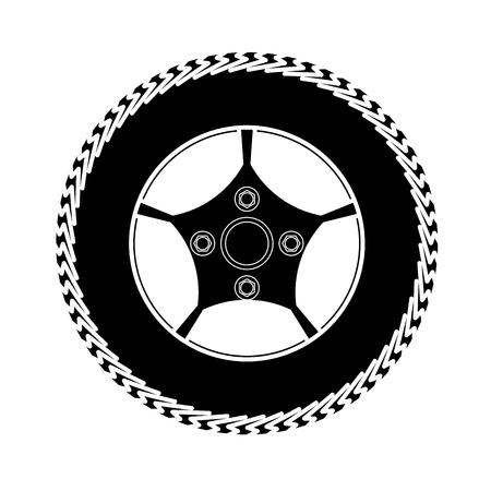 spoke: tires and wheels Vector Illustration Illustration