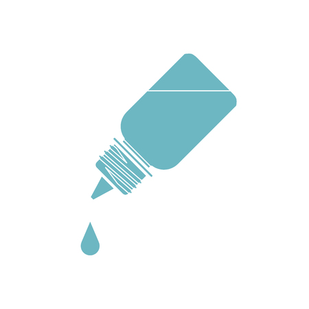 Prescribed Eye Drop Bottle Isolate On White Background vector