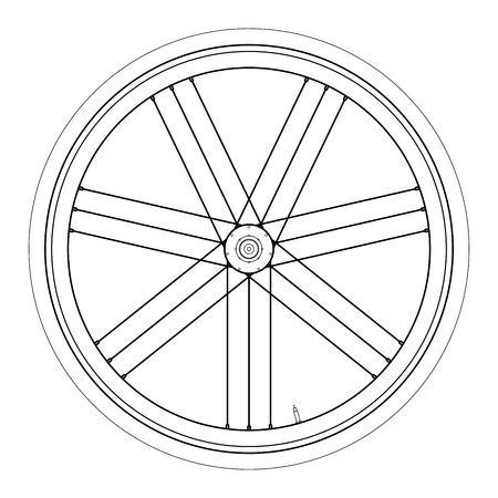 Simple Bike wheel - vector illustration on white background