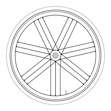 Simple Bike wheel - vector illustration on white background