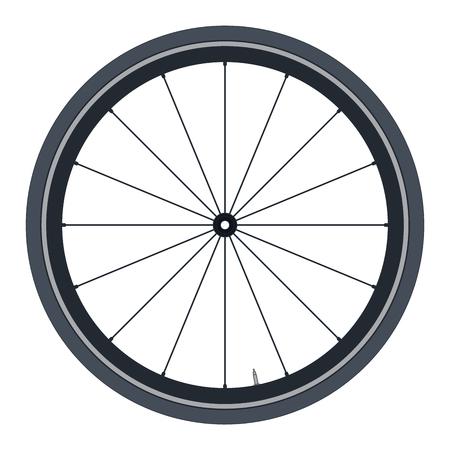 Realistic Bike wheel - vector illustration on white background