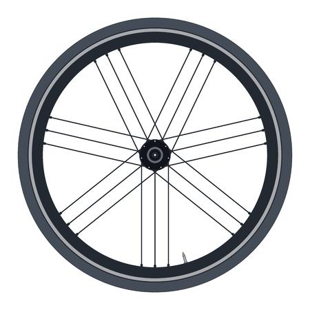 Plain Bike wheel - vector illustration on white background Illustration