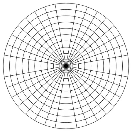 Blank Polar Graph Paper - protractor -  Pie Chart vector 矢量图像