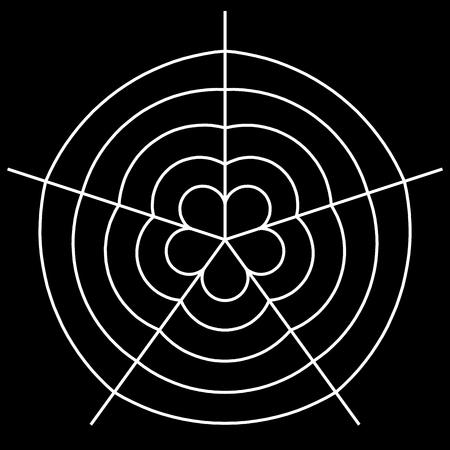Witte spin vector illustratie op de achtergrond Stock Illustratie