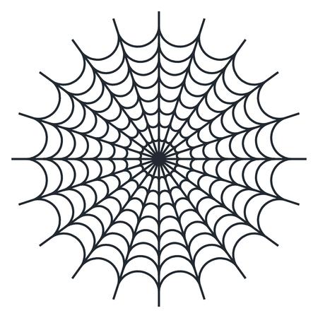 Spider web vector  illustration on white background