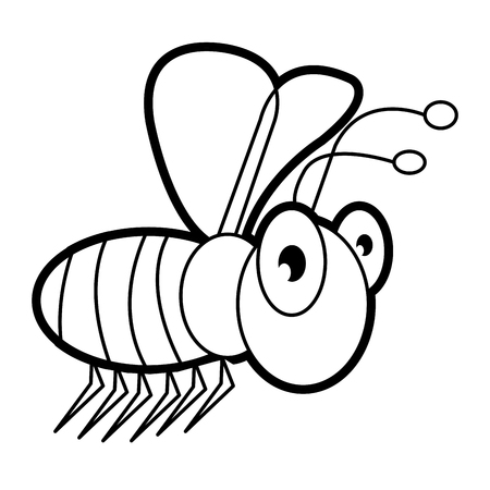 The Bee Cartoon Bug Life Coloring Page For Toddle Royalty Free
