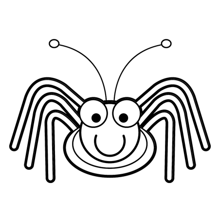 Larva Worm And Apple Cartoon Coloring Page For Toddle Royalty Free