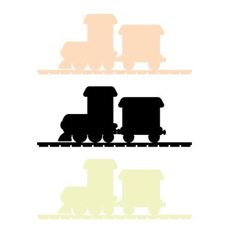 鉄道シルエット ベクトル  イラスト・ベクター素材