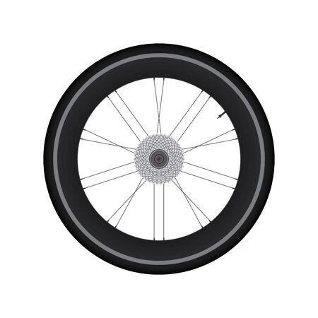 spoke: High Rim Wheel Road Bike with gear vector