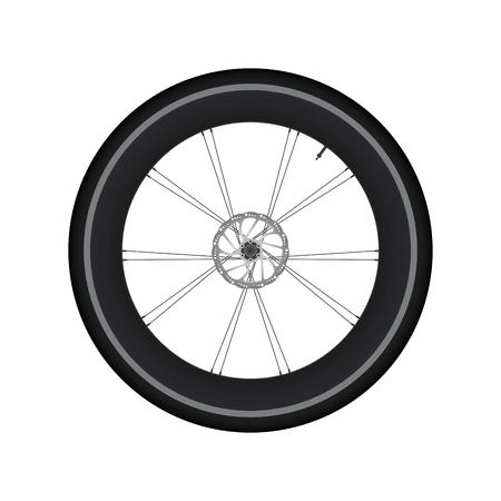 spoke: High Rim Wheel Road Bike with Disc Brake vector
