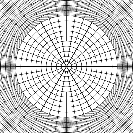 Sheet Of Polar Graph Paper. Shows Wear On Edges And Discoloration ...